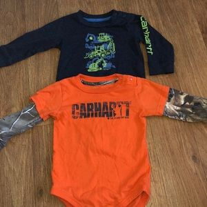 Carhartt long sleeve onesie lot